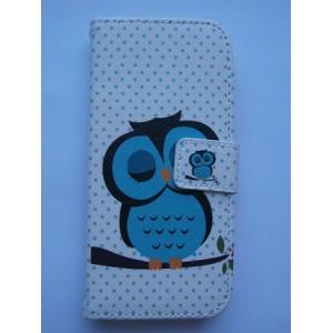 Sleva-Koženkové pouzdro Wallet - HTC One Mini 2 - Sovy 04