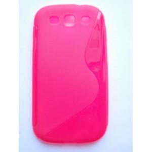 Sleva-Pouzdro / Obal S-Curve, růžový - Galaxy S3 i9300, S3 Neo i9301