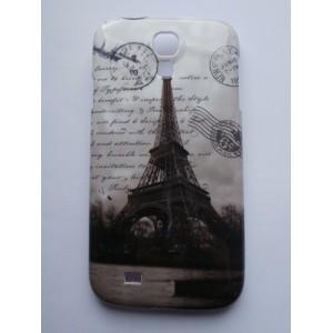 Sleva-Kryt/Obal Galaxy S4 i9500 - Eiffelovka Vintage