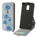 Koženkové pouzdro Flip - Galaxy S5 Mini G800 - Květy 04