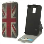 Koženkové pouzdro Flip - Galaxy S5 Mini G800 - Union Jack