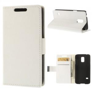 Koženkové pouzdro Galaxy S5 Mini G800 - bílé 01