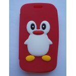 Sleva-Oboustranné pouzdro - Červený tučňák - Galaxy Trend S7560/S Duos S7562/Trend Plus S7580
