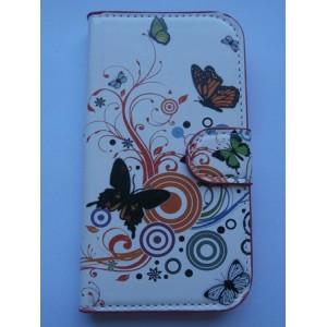 Sleva-Koženkové pouzdro Wallet - Motýli 01 - Galaxy S3 i9300