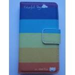 Sleva-Koženkové pouzdro Wallet LG L70 - Pruhy