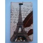 Slea-Koženkové pouzdro Wallet - Xperia M2 - Eiffelovka 05