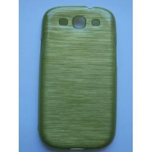 Sleva-Pouzdro / Obal - Broušený vzor, žlutozelený - Galaxy S3 i9300