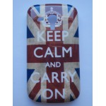 "Sleva-Zadní kryt/Obal Galaxy Trend S7560/S Duos S7562/Trend Plus S7580 - Union Jack ""Keep calm and carry on"""