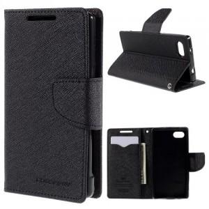 Pouzdro Fancy Diary - Xperia Z5 Compact - černé