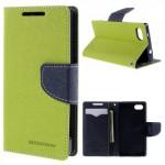 Pouzdro Fancy Diary - Xperia Z5 Compact - zelené-tmavě modré