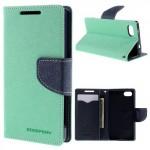Pouzdro Fancy Diary - Xperia Z5 Compact - tyrkysové-tmavě modré
