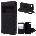 Knížkové pouzdro S-view - Xperia Z5 Compact - černé