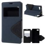 Knížkové pouzdro S-view - Xperia Z5 Compact - tmavě modré-černé