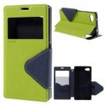 Knížkové pouzdro S-view - Xperia Z5 Compact - zelené-tmavě modré