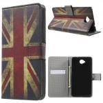 Koženkové knížkové pouzdro Lumia 650 - Union Jack