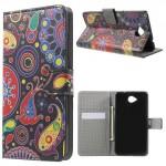 Koženkové knížkové pouzdro Lumia 650 - Květy 01