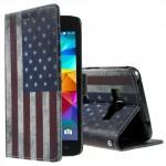 Koženkové knížkové pouzdro Galaxy Grand Prime - Vlajka USA 02
