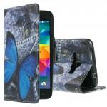 Koženkové knížkové pouzdro Galaxy Grand Prime - Motýl 04