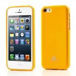 Obal Jelly Case iPhone 5c - Žlutý lesklý třpytivý