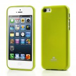 Obal Jelly Case iPhone 5c - Zelený lesklý třpytivý