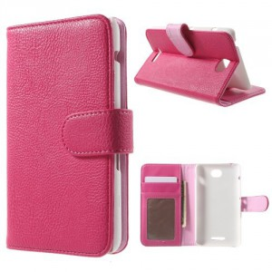 Pouzdro Sony Xperia E4 - Tmavě růžové 02