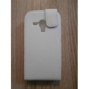 Sleva-Koženkové pouzdro Flip - Bílé - Galaxy S3 Mini i8190
