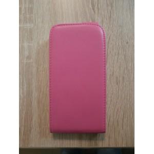 Sleva-Koženkové pouzdro Flip - Galaxy S4 i9500 - Růžové 02