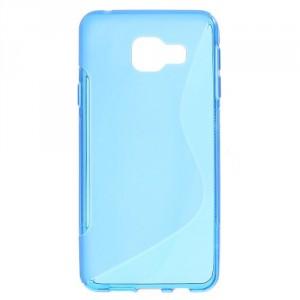 Pouzdro / Obal S-curve Galaxy A3 (2016) - Modré