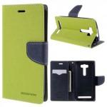 Pouzdro Fancy Diary ZenFone 2 Laser ZE500KL - zelené-tmavě modré