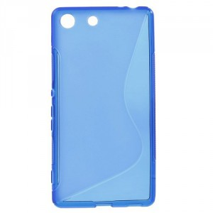 Pouzdro / Obal S-Curve Xperia M5 - Modré