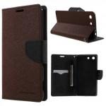 Pouzdro Fancy Diary Xperia M5 - hnědé-černé