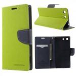 Pouzdro Fancy Diary Xperia M5 - zelené-tmavě modré