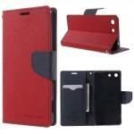 Pouzdro Fancy Diary Xperia M5 - červené-tmavě modré