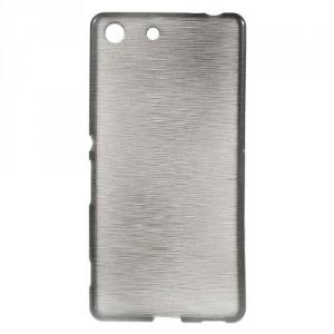 Pouzdro / Obal - Broušený vzor, šedé - Xperia M5