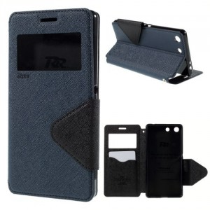 Pouzdro Wallet S-view Xperia M5 - tmavě modré-černé