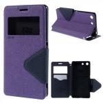 Pouzdro Wallet S-view Xperia M5 - fialové-tmavě modré