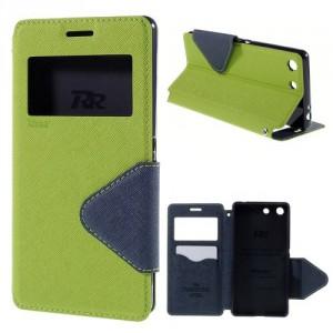 Pouzdro Wallet S-view Xperia M5 - zelené-tmavě modré
