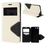 Pouzdro Wallet S-view Xperia M5 - bílé-černé