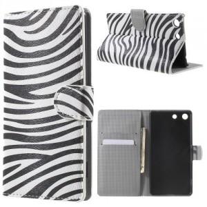 Koženkové pouzdro Xperia M5 - Zebra