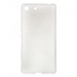 Pouzdro / Obal - Broušený vzor, bílé - Xperia M5
