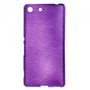 Pouzdro / Obal - Broušený vzor, fialové - Xperia M5