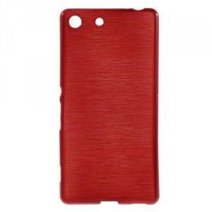 Pouzdro / Obal - Broušený vzor, červené - Xperia M5