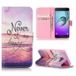 Koženkové pouzdro Galaxy A5 (2016) - Never stop dreaming