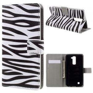 Koženkové pouzdro LG K10 - Zebra