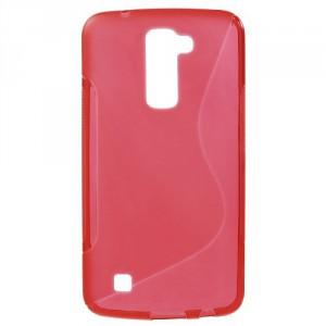 Pouzdro / Obal S-Curve LG K10 - červený