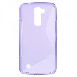 Pouzdro / Obal S-Curve LG K10 - fialový