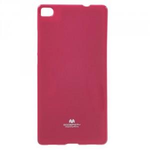 Obal Jelly Case - Ascend P8 - Tmavě růžový lesklý třpytivý