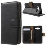 Koženkové knížkové pouzdro - Galaxy J5 - Černé