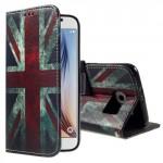 Koženkové knížkové pouzdro Galaxy S6 - Union Jack