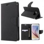 Pouzdro Fancy Diary Galaxy S6 - Černé